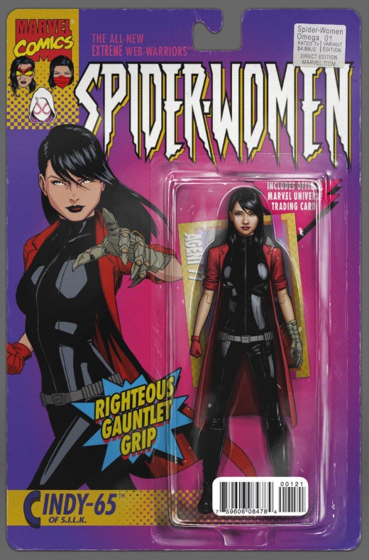Spider-Women-Omega Portada alternativa figura de acción de John Tyler Christopher