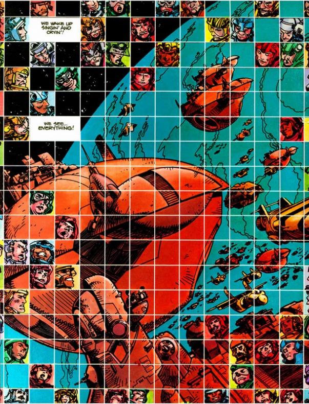 Página de Star Slammers por Walter Simonson