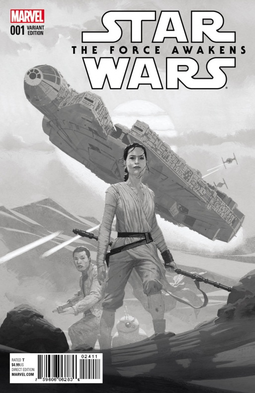 Star Wars The Force Awakens 1 Ribic Sketch Variant ae207