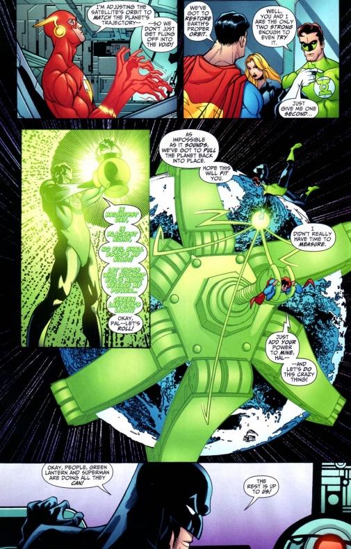 13 Proezas increíbles que han hecho los superhéroes 01 Superman arrastra planetas
