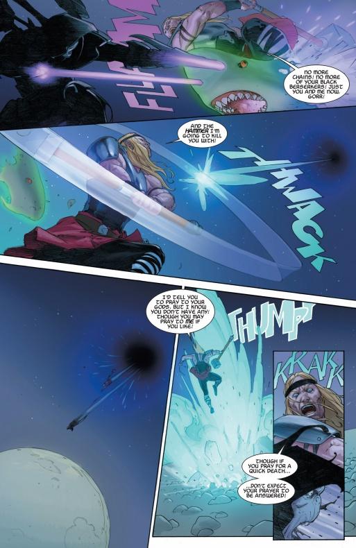 13 Proezas increíbles que han hecho los superhéroes 04 Thor Golpea crea agujero negro