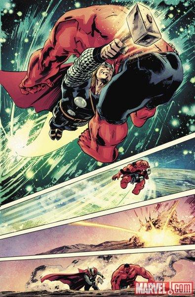 13 Proezas increíbles que han hecho los superhéroes 04.5 Thor Golpea crea agujero negro
