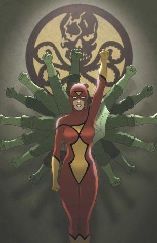 9 personajes Marvel que fueron Agentes de Hydra 01 Spiderwoman