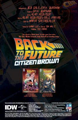 Back to the Future Citizen Brown Página interior 1