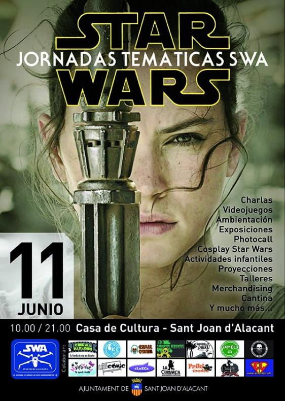 Cartel Jornadas Temáticas Star Wars Alicante