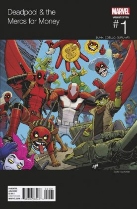 Deadpool and the Mercs for Money Portada alternativa de David Nakayama