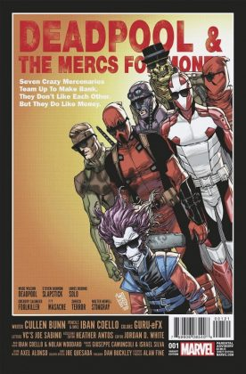Deadpool and the Mercs for Money Portada alternativa de Giuseppe Camuncoli e Israel Silva