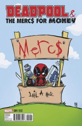 Deadpool and the Mercs for Money Portada alternativa de Skottie Young