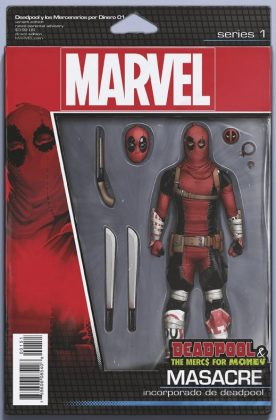 Deadpool and the Mercs for Money Portada figura de acción de John Tyler Christopher