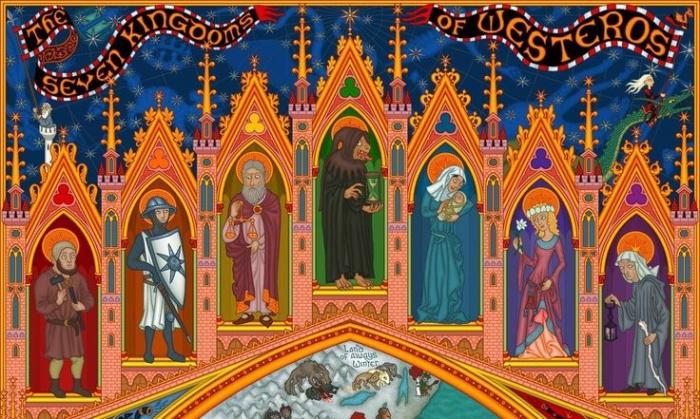 Los siete dioses de Juego de Tronos