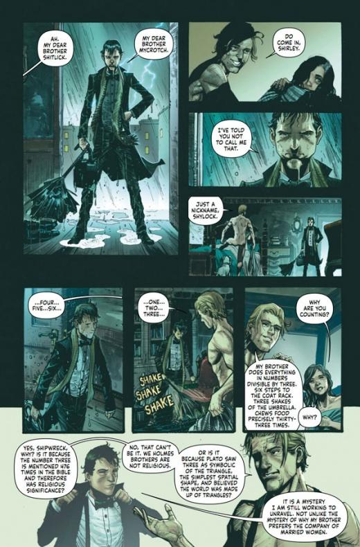 Mycroft Holmes The Apocalypse Handbook Página interior (3)