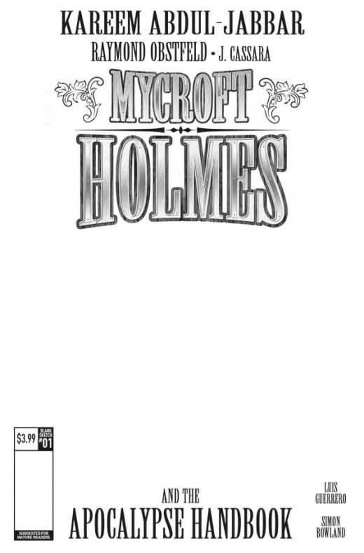 Mycroft Holmes The Apocalypse Handbook Portada alternativa en blanco