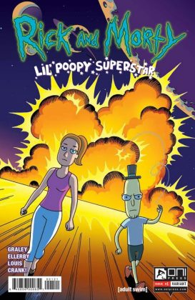 Rick and Morty Lil' Poopy Superstar Portada alternativa de Megan Levens