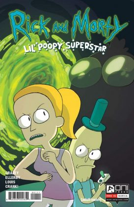 Rick and Morty Lil' Poopy Superstar Portada principal de Sarah Graley