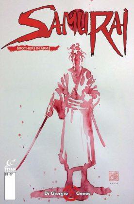 Samurai Brothers in Arms Portada alternativa de David Mack
