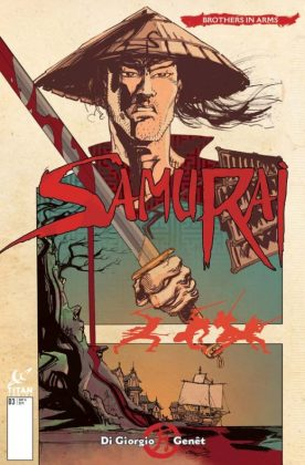 Samurai Brothers in Arms Portada alternativa de John McCrea