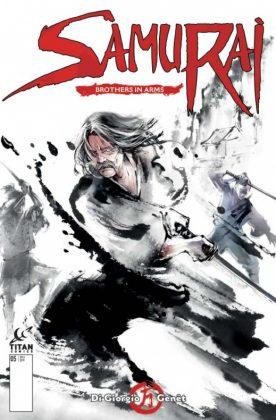 Samurai Brothers in Arms Portada alternativa de Jung Shan