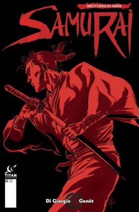 Samurai Brothers in Arms Portada alternativa de Steve Kurth