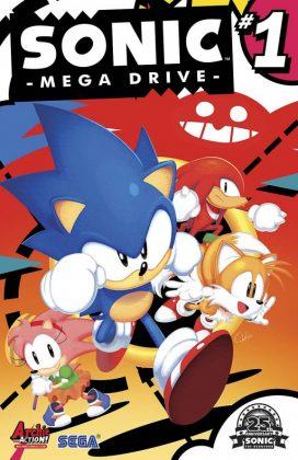 Sonic Mega Drive Portada de Tyson Hesse