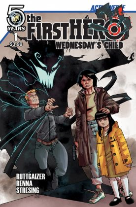 The F1rst Hero Wednesday's Child Portada principal de Marco Renna y Lee Moder