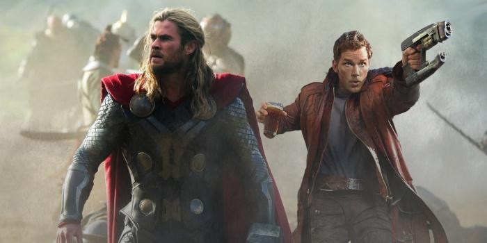 Thor Chris Hemsworth Star Lord Chris Pratt