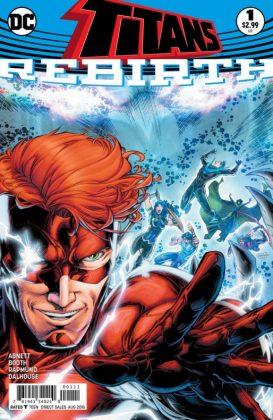 Titans Rebirth Portada principal de Brett Booth y Norm Rapmund