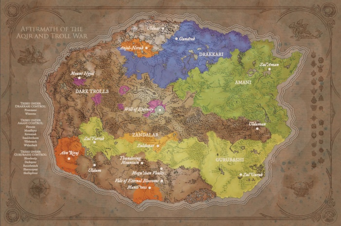 World of Warcraft Crónicas mapa