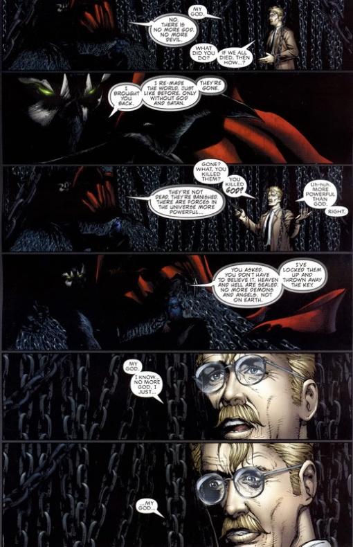 13 Proezas increíbles que han hecho los superhéroes 07 Spawn deshace al Diablo y a Dios