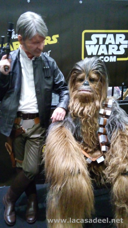 Star Wars Celebration Han Solo Chewbacca