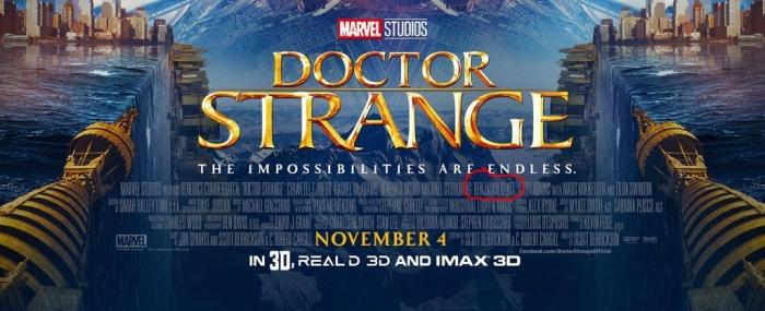Benjamin Bratt en el póster de Doctor Strange