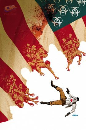Bloodshot U.S.A. Portada alternativa de Dave Johnson
