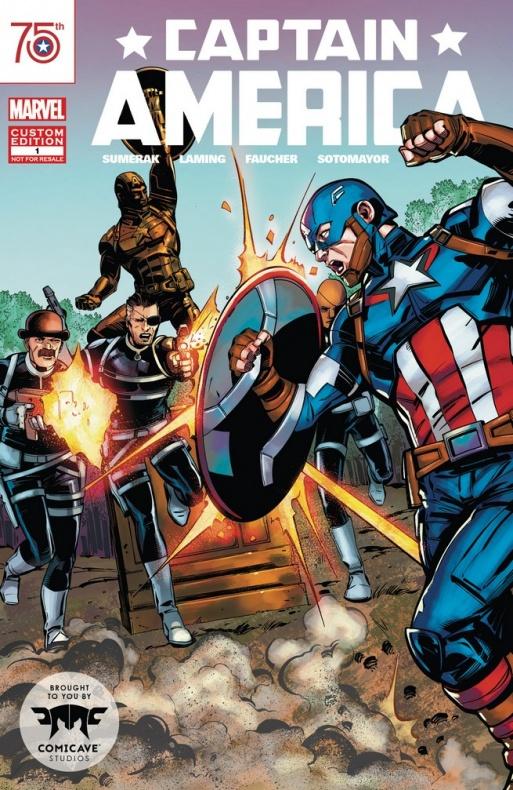 Capitán América cómic especial estatua 75 aniversario