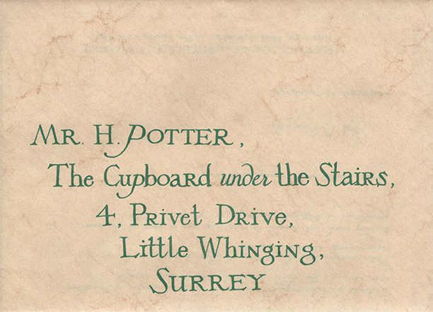 Carta de aceptación de Hogwarts - a subasta