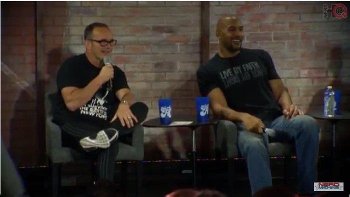 Clark Gregg y Henry Simmons (Agentes de SHIELD) en el Nerd HQ 2016