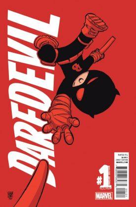Daredevil Annual Portada alternativa de Skottie Young