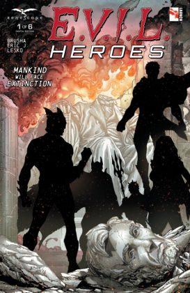 E.V.I.L. Heroes Portada de Ian Richardson