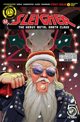 Heavy Metal Santa Claus Portada alternativa de Tony Fleecs