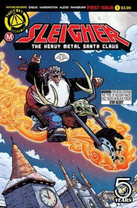 Heavy Metal Santa Claus Portada principal de Axur Eneas