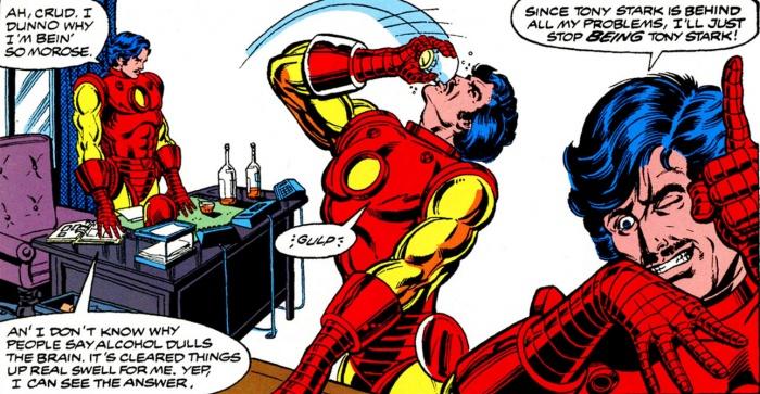 Tony Stark en caída libre