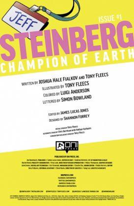Jeff Steinberg Champion of Earth Página interior (1)