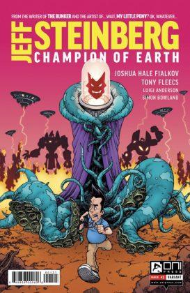 Jeff Steinberg Champion of Earth Portada alternativa de Chris Burnham y Nathan Fairbairn