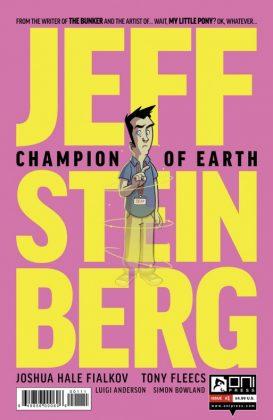Jeff Steinberg Champion of Earth Portada principal de Tony Fleecs