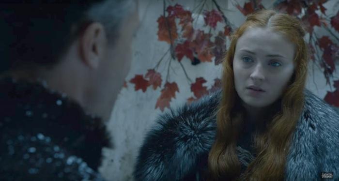 Juego de Tronos - Sansa y Meñique árbol