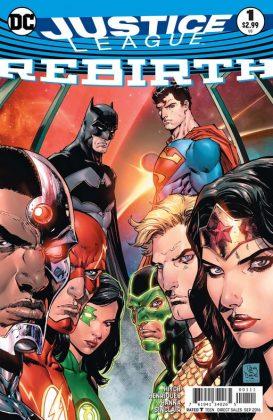 Justice League Rebirth Portada principal de Tony S. Daniel y Tomeu Morey