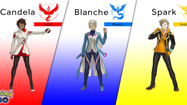 Pokémon GO Líderes Equipos