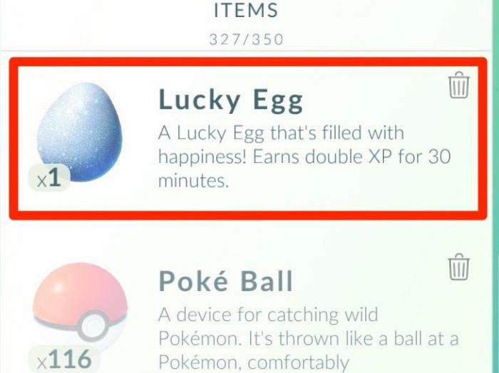 Pokémon GO Lucky egg