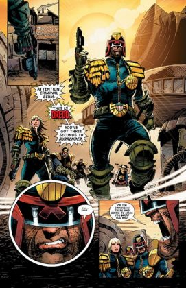 Predator vs. Judge Dredd vs. Aliens Página interior (1)