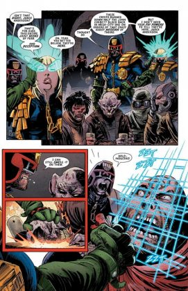 Predator vs. Judge Dredd vs. Aliens Página interior (3)