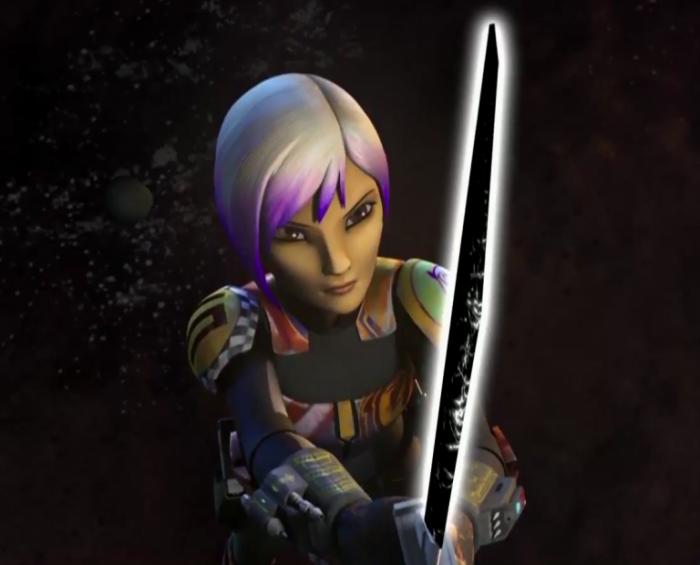 Sabine Star Wars Rebels sable oscuro
