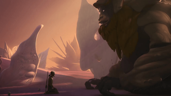Star Wars Rebels Kanan y el Bendu